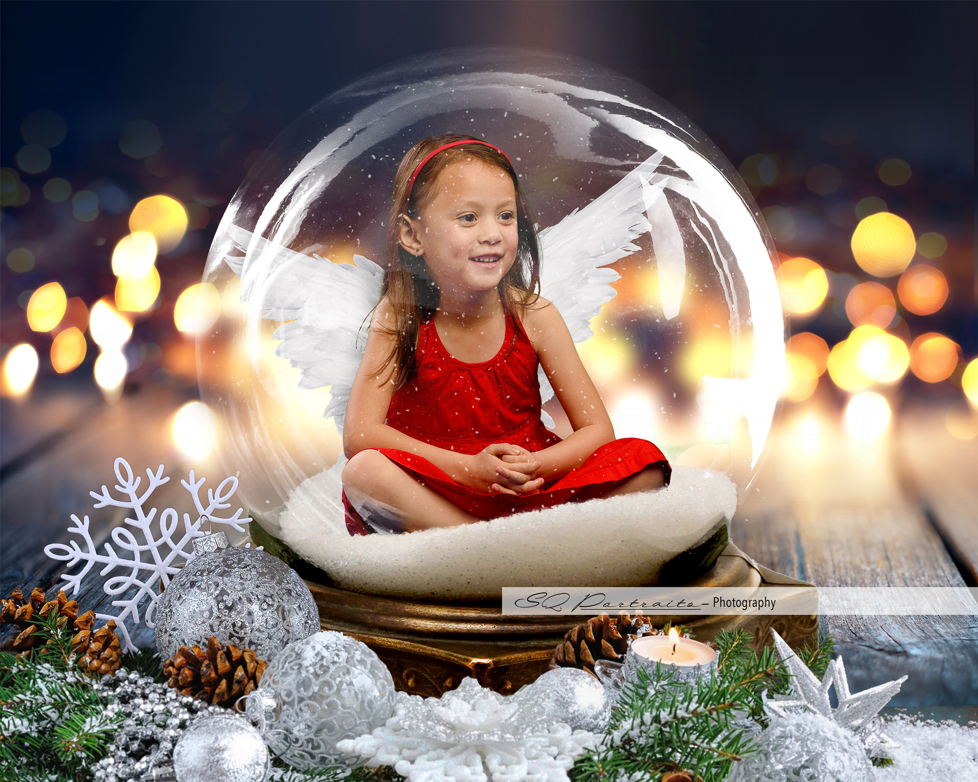 Twinkling Angel Snow Globe